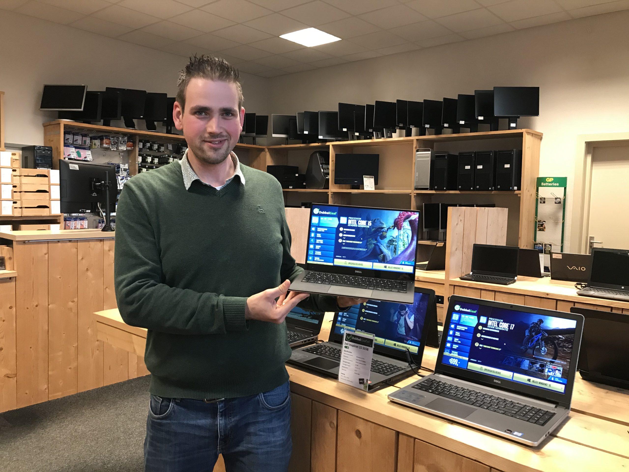 Frans met een van de Dell XPS 13 laptops van DubbelGaaf.nl